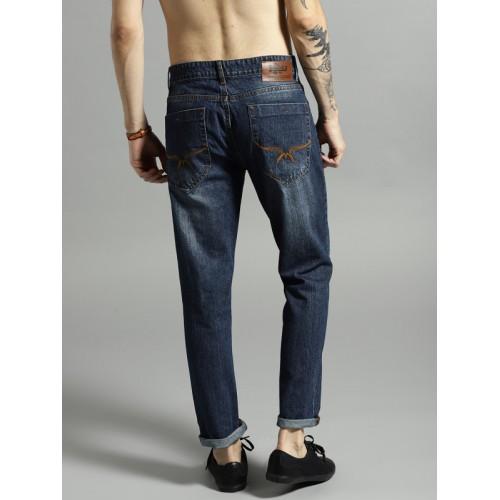 Roadster Men Navy Slim Fit Mid-Rise Clean Look Jeans