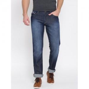 John Players Men Blue Slim Fit Low-Rise Clean Look Jeans