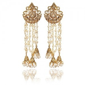 Meia Gold Plated White Alloy Hangings For Women
