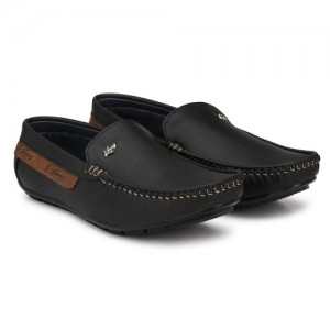 Knoos Black Synthetic Slip On Loafer