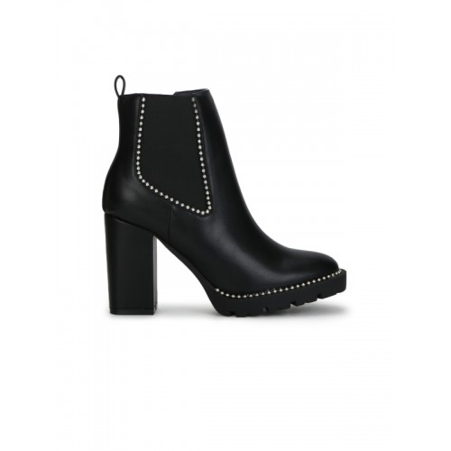 f180dd0487cd Buy Truffle Collection Women Black Synthetic Heeled Boots online ...
