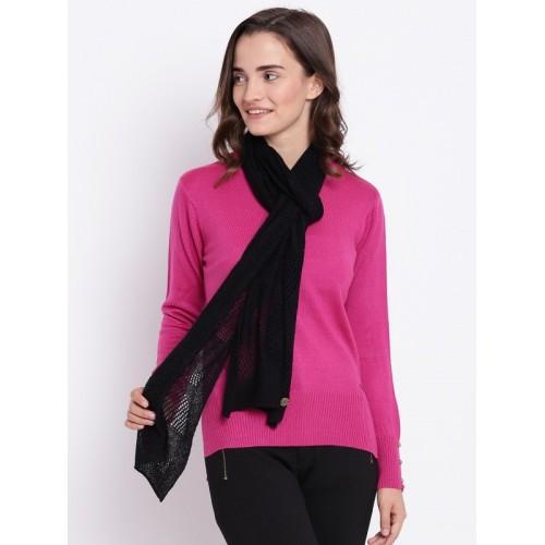 3603be19c Buy Cayman Wool Striped Women s Shawl(Black) online