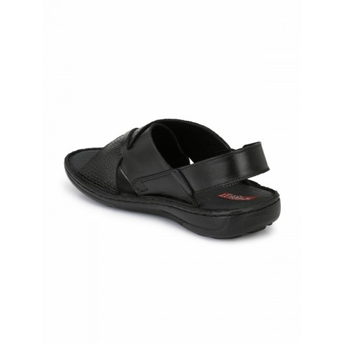 Sir Corbett Men Black Genuine Leather Comfort Sandals