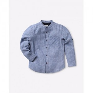 AJIO Striped Cotton Shirt with Patch Pocket
