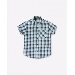 AJIO Checked Shirt with Patch Pocket