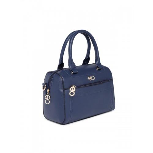 E2O Navy Blue Solid Handbag