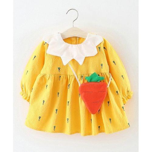 Pre Order - Awabox Carrot Theme Dress - Yellow