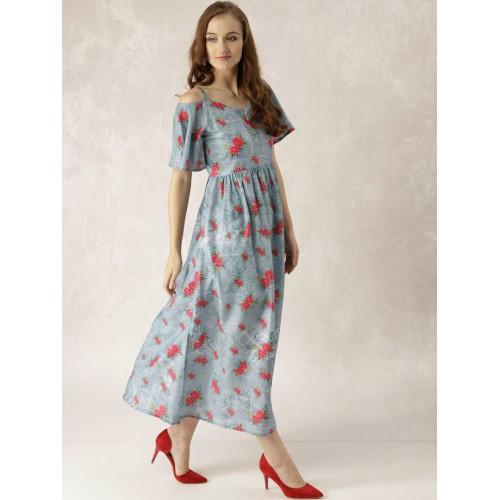 763ddeb7531 Buy Libas Women Blue Floral Print Maxi Dress online