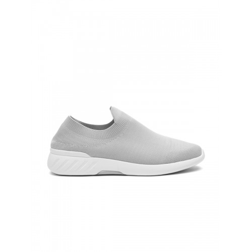 Buy ether Men Grey Slip-On Sneakers