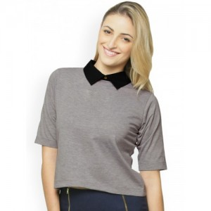 Miss Chase Grey Crop Top