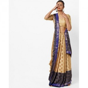 CHHABRA 555 Floral Print Saree with Contrast Border