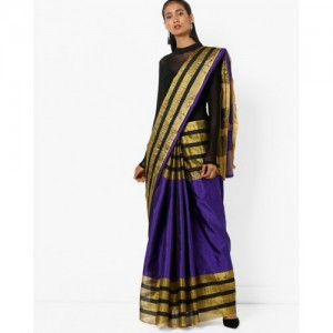 Florence Saree with Striped Border