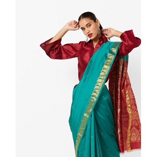 CHHABRA 555 Art Silk Saree with Contrast Zari Border