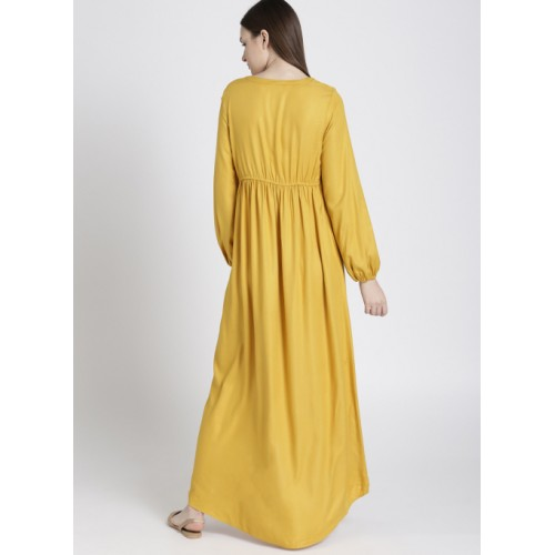 Chemistry Mustard Solid Maxi Dress