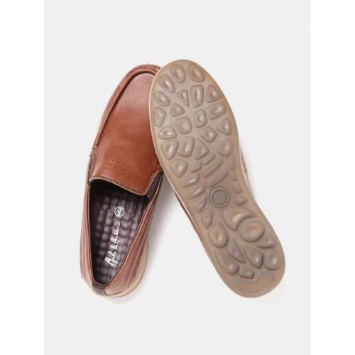 Mast & Harbour Men Brown Slip-On Sneakers