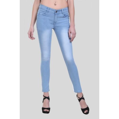 Crease & Clips Slim Women's Light Blue Jeans