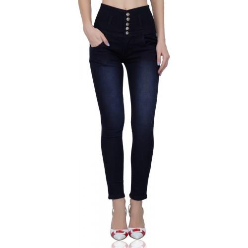 Luxsis Skinny Women Dark Blue Jeans