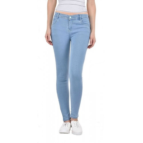 0-Degree Skinny Women Light Blue Jeans