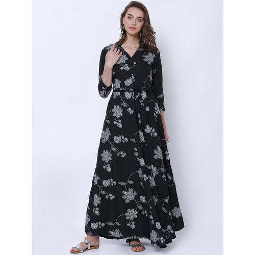 fe18f729d22 Buy Tokyo Talkies Women Black Printed Maxi Dress online