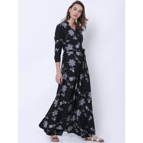 10acecef0be Buy Tokyo Talkies Women Black Printed Maxi Dress online