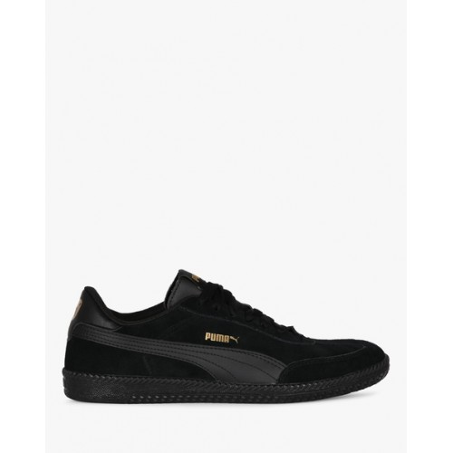 Puma Unisex Black Astro Cup Suede Sneakers