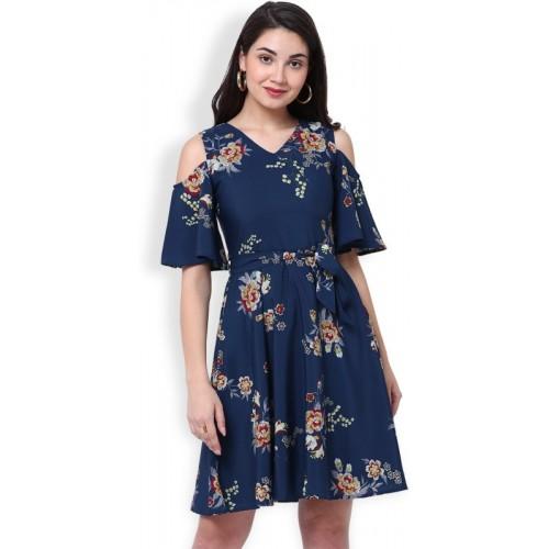 092eca4dad1 Buy Tokyo Talkies Women s Maxi Dark Blue Dress online