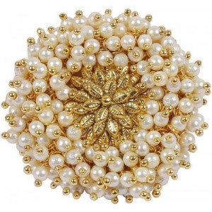 Muchmore Alloy Pearl Gold-plated Plated Ring