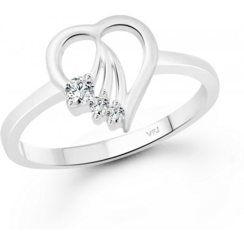 Vighnaharta Serenity Heart Finger Ring for Women and Girls Alloy Cubic Zirconia Gold-plated Plated Ring