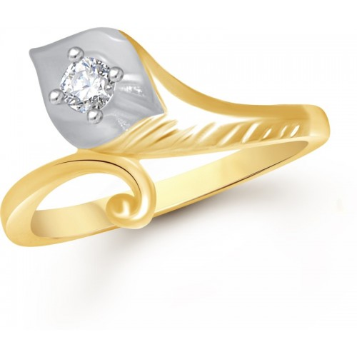 VK Jewels Magic Leaf Alloy Cubic Zirconia Gold-plated Plated Ring
