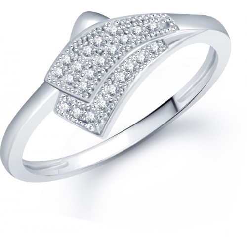 VK Jewels Alloy Rhodium Plated Ring