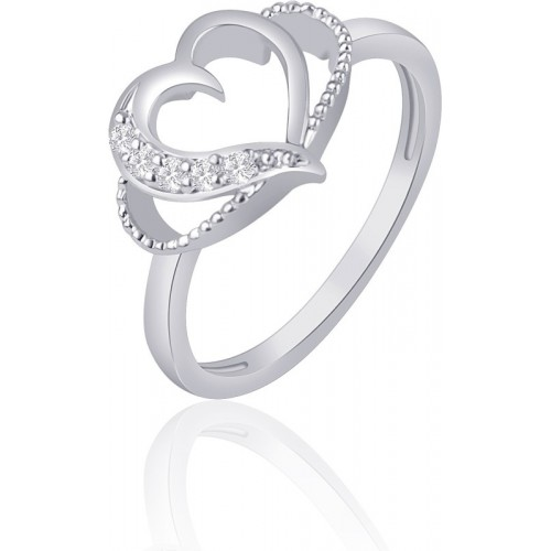 VK Jewels Alloy Cubic Zirconia Rhodium Plated Ring