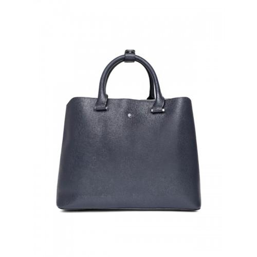 Dune London Navy Blue Solid Handheld Bag with Detachable Sling Strap