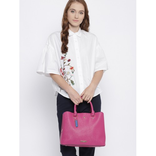 Dune London Pink Solid Handheld Bag