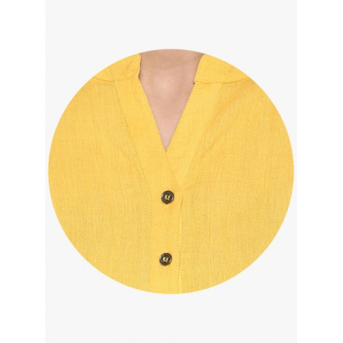 Juniper Yellow Solid Kurta