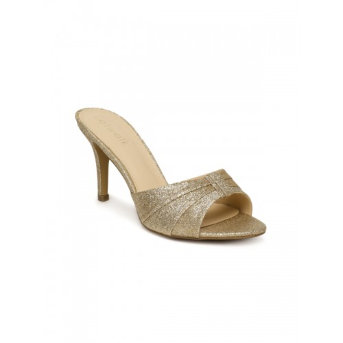 Catwalk Women Gold-Toned Embellished Stilettos