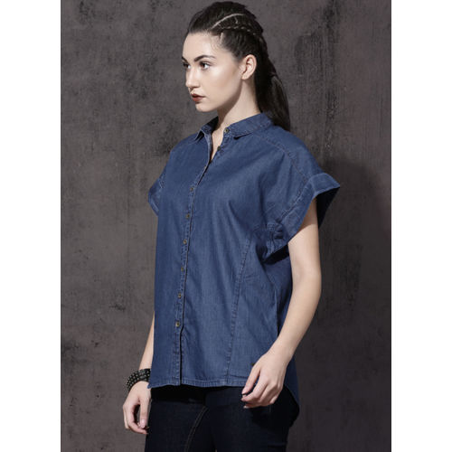 Roadster Blue Solid Shirt