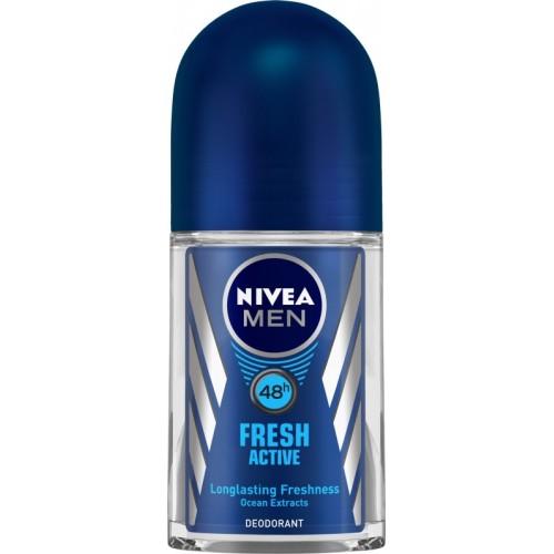 Nivea Men Fresh Active Deodorant Roll-on  -  For Men(50 ml)