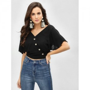 b786b2ce2f1 Buy Stalkbuylove Checked Nia Knotted Crop Top online | Looksgud.in
