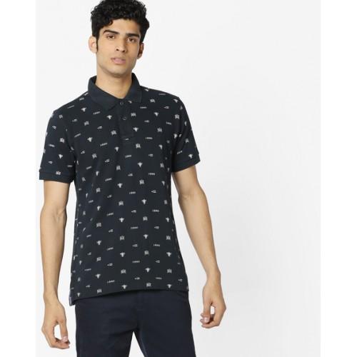 9a026c1b3 Buy U.S. Polo Assn. All-Over Print Polo T-shirt online | Looksgud.in