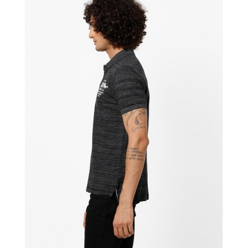 U.S. Polo Assn. Heathered Polo T-shirt with Branding
