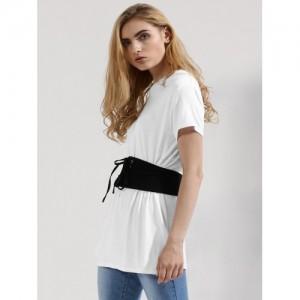 Femella Jersey T-Shirt With Corset Belt