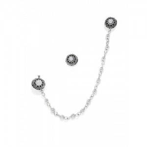 Zaveri Pearls Silver Alloy Nosepin With Studs