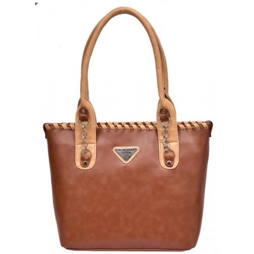 Al Jazeera Shoulder Bag(Brown, Beige)