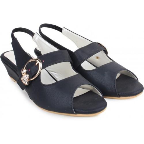 50ea8d686825 Buy London Steps Women Black Wedges online