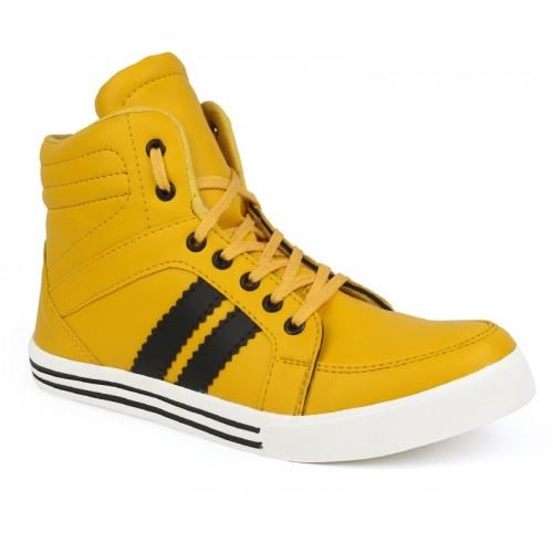 Zixer Yellow Sneakers For Men