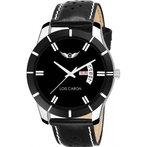 Lois Caron LCS-8088 BLACK DIAL DAY & DATE FUNCTIONING Watch  - For Men