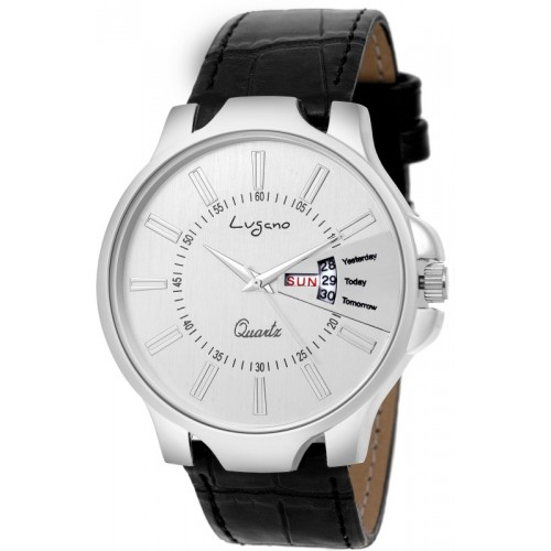 Lugano LG 1131 Exclusive & Royal Slim Leather Watch Watch  - For Men