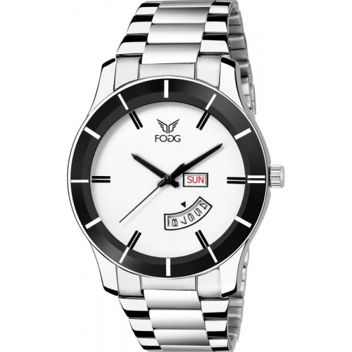 Fogg 2051-WH White Day & DAte Hybrid Watch  - For Men