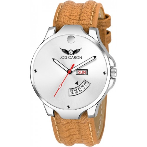 Lois Caron LCS-8072 WHITE DIAL DAY & DATE FUNCTIONING Watch  - For Men