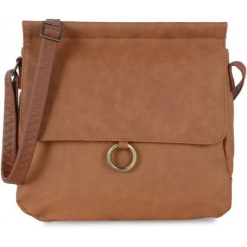 Baggit Women Casual Brown PU Sling Bag